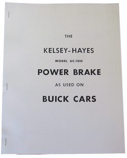 Kelsey-Hayes Power Brake Repair Pamphlet