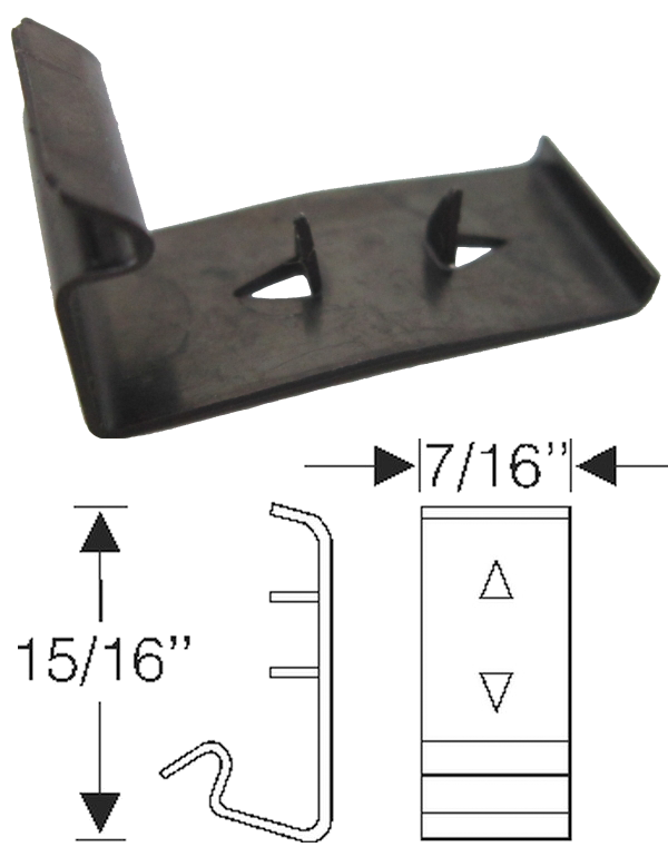 Window Channel Clip 1939-50 Buick A