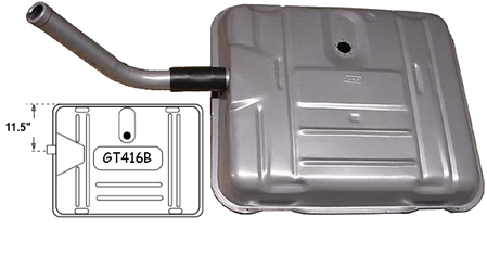"Gas Tank 1941-56 Buick 11.5"" Offset Neck"