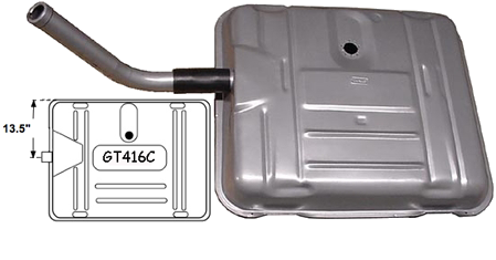 "Gas Tank 1941-56 Buick 13.5"" Offset Neck"