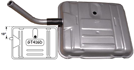 "Gas Tank 1941-56 Buick 10"" Offset Neck"