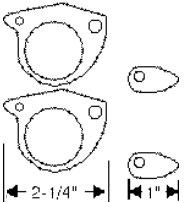 Door Handle Gasket 1957-58 Buick