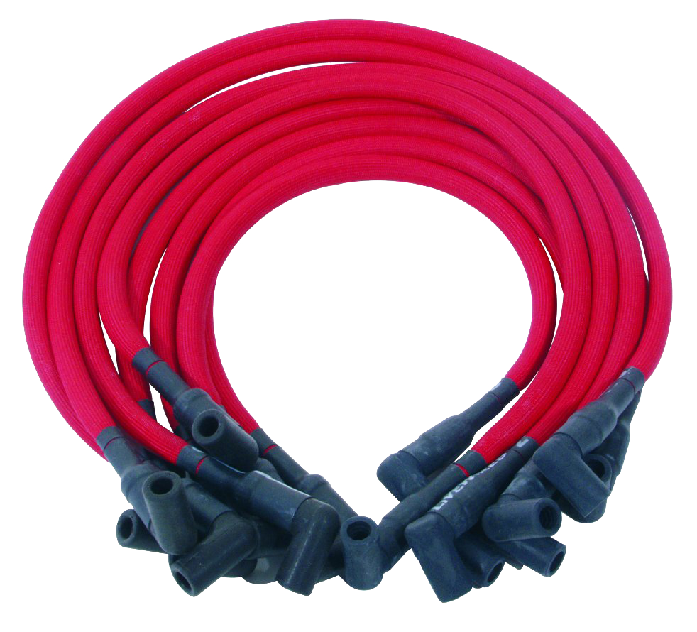 Spark Plug Wire Set 1957-66 DUI576 Red