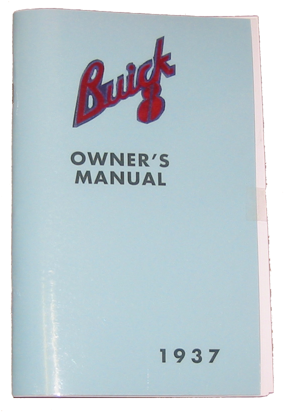 Owners Manual 1937 Buick