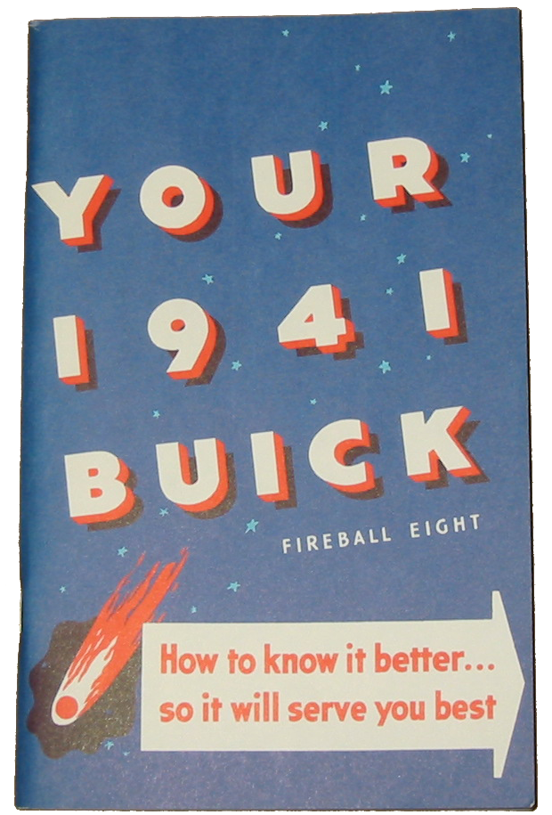 Owners Manual 1941 Buick Full Color
