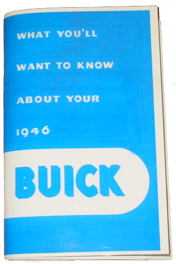 Owners Manual 1946 Buick