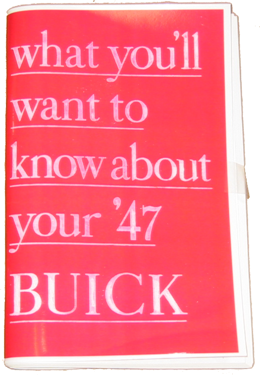 Owners Manual 1947 Buick