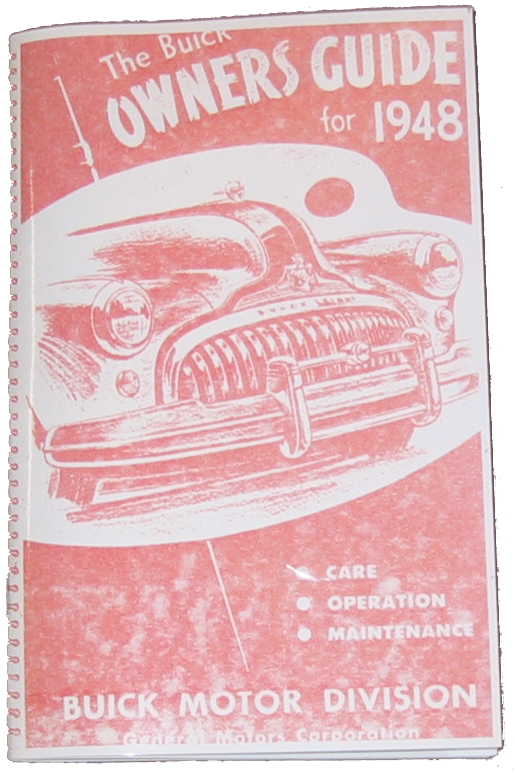 Owners Manual 1948 Buick
