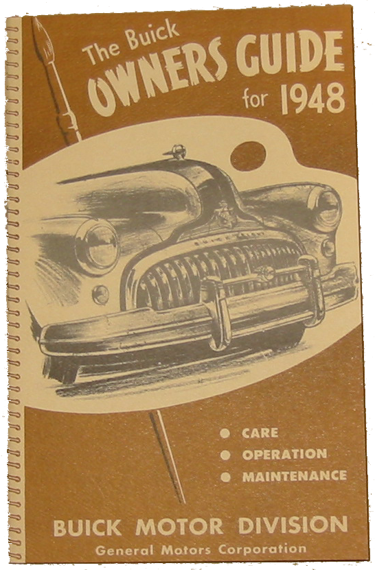 Owners Manual 1948 Buick Full Color