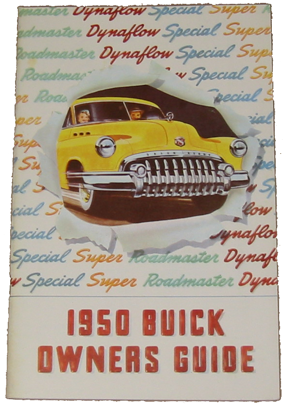 Owners Manual 1950 Buick 50 / 70 Color