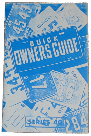 Owners Manual 1950 Buick 40