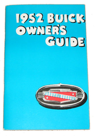 Owners Manual 1952 Buick Full Color