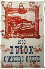 Owners Manual 1953 Buick Full Color