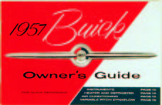 Owners Manual 1957 Buick