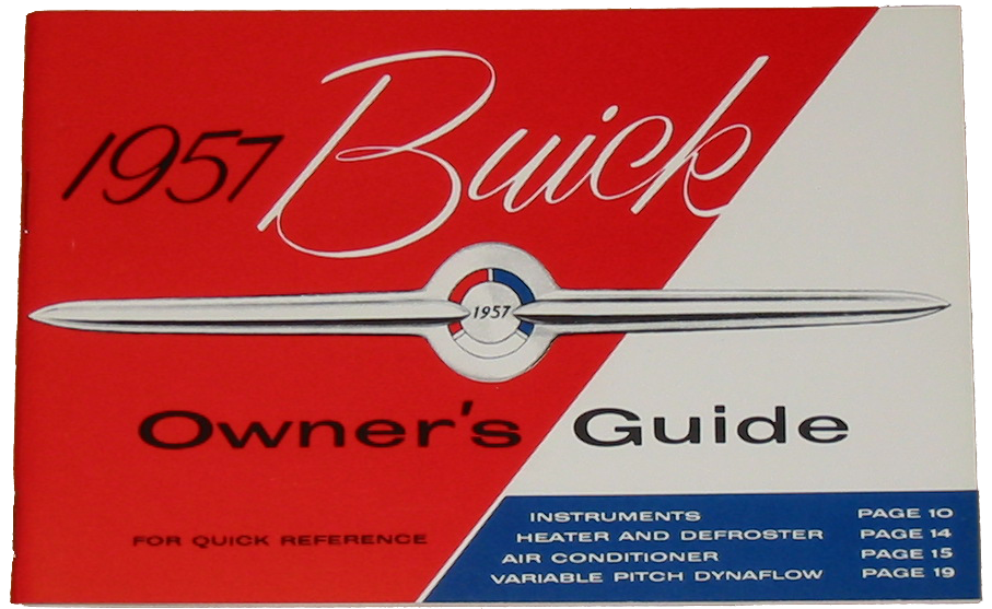 Owners Manual 1957 Buick Full Color