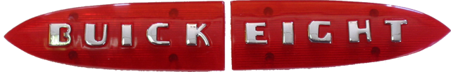 Trunk Emblem 1941 <B>BUICK EIGHT</B>
