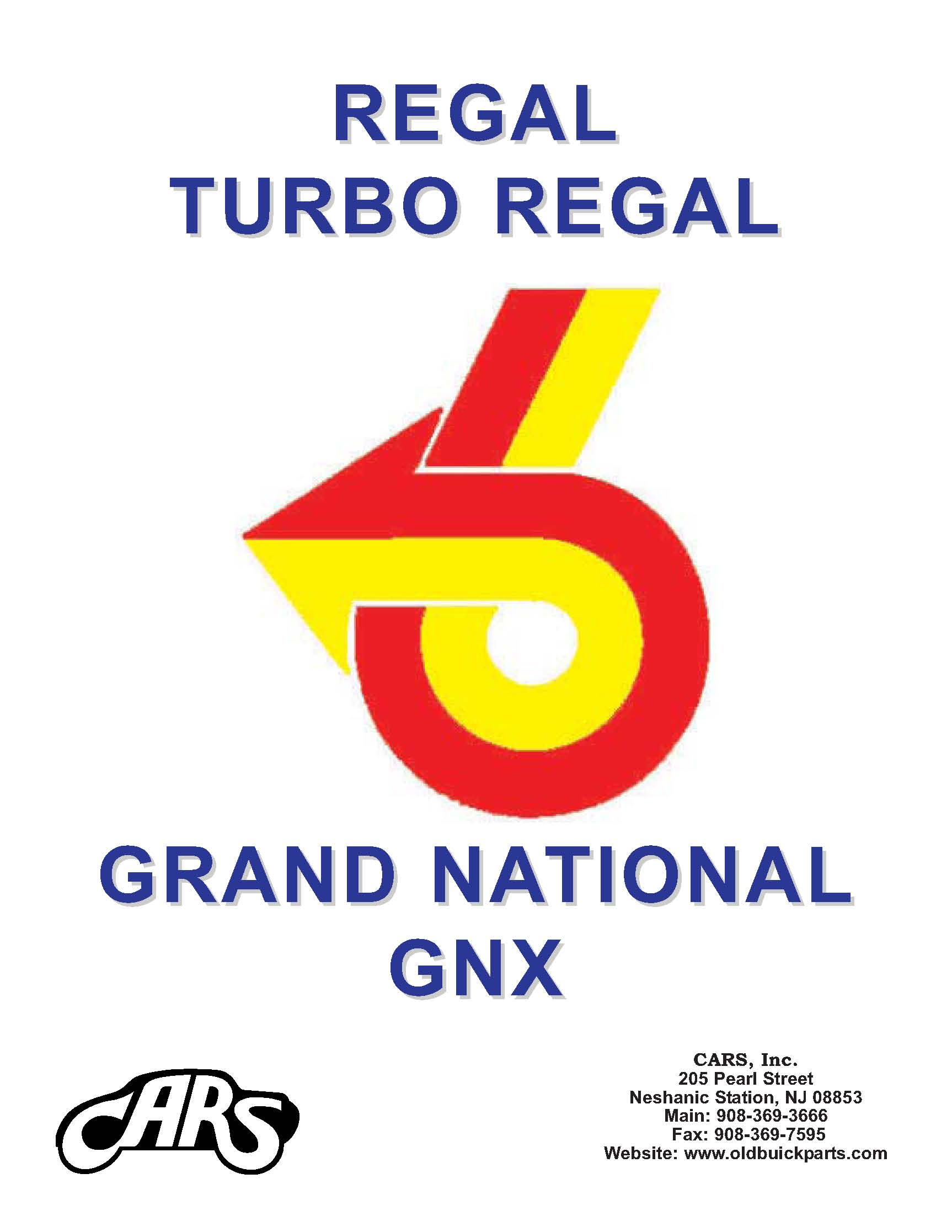 <H2>Buick Parts Catalogs 1973 - Up<BR>Buick Regal, Grand National, GNX</H2>