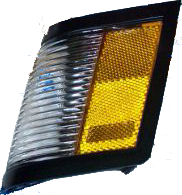 Side Marker Light 1984-87 LH Black