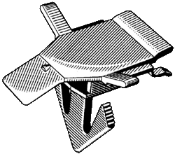 Garnish Molding Clip 1978-87 - Rear