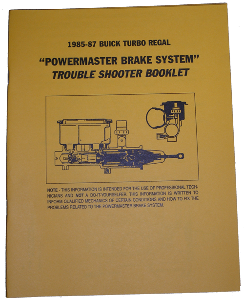 Powermaster Book 1985-87 Buick Turbo