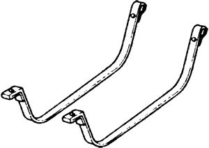 Gas Tank Straps 1982-87 Stainless Steel
