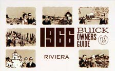 Owners Manual 1966 Buick Riviera