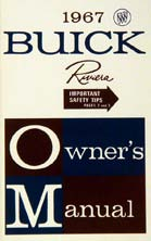 Owners Manual 1967 Buick Riviera