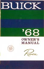 Owners Manual 1968 Buick Riviera