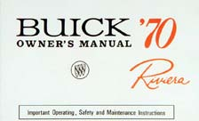 Owners Manual 1970 Buick Riviera