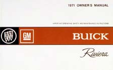 Owners Manual 1971 Buick Riviera