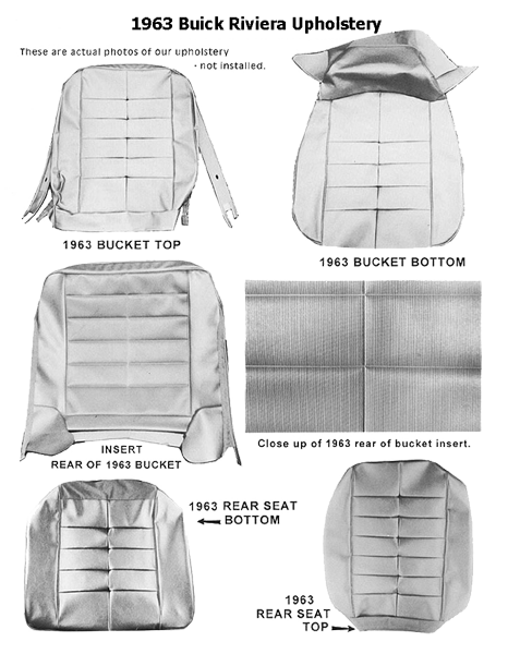 Upholstery Kit 1963 Riviera Leather