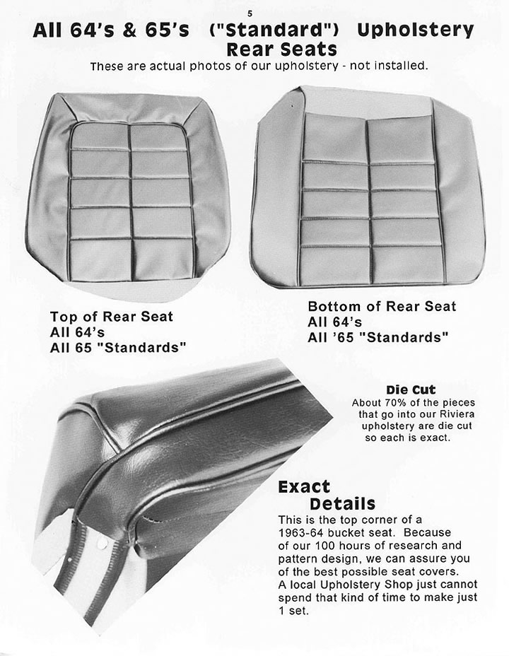 1965 Riviera Upholstery Kit Stand Vinyl