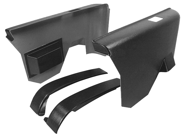 Arm Rest Panel 1970-72 Buick Rear Black