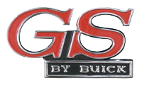 Grill Emblem 1971 <B>GS by Buick</B>