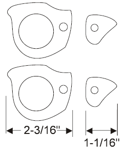 Door Handle Gasket Set 1961-62 Skylark