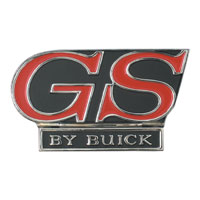 Trunk Lid Lock Cover Monogram 1969 Buick