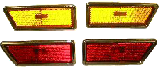 Marker Lamp 1970-72 Buick Set Front/Rear