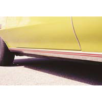 Rocker Molding 1970-72 Red Stripe