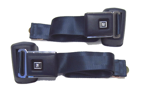 Seat Belt Set 1961-75 GM Style Navy Blue