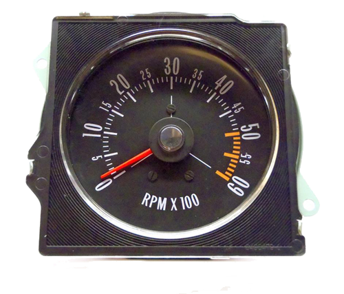 Tachometer 1970-72 Buick Pointed Lens