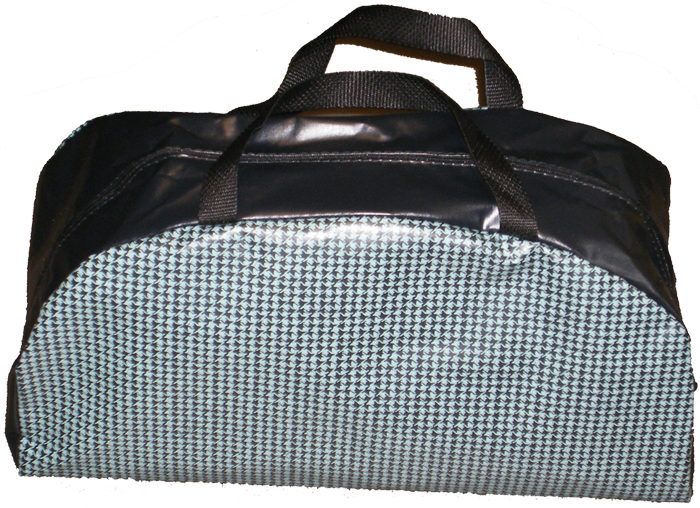 Trunk Tote - Aqua/Black