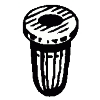"Tubular Nut 1/8"" Stud 11/64"" Hole (25)"