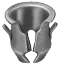 "Tubular Nut 1/8"" Stud 1/4"" Hole (25)"