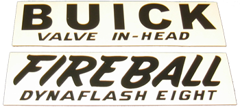 Valve Cover Decal 1941-52 Buick - Black