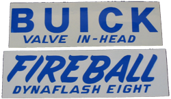 Valve Cover Decal 1941-52 Buick - Blue