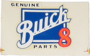 Buick 8 Parts Decal