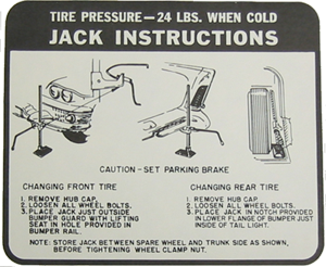 Jack Instructions Decal 1958