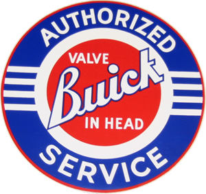 "Buick Authorized Service Decal 10"" Dia"