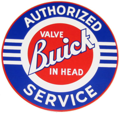 "Buick Authorized Service Decal 5"" Dia."