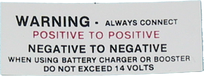 Battery Decal 1965-66